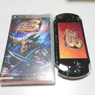 プレイステーションポータブル(PlayStation Portable)のPSP-3000 とモンハン3rd(携帯用ゲーム機本体)