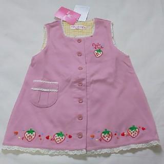mikihouse - 女の子80cm Frulu Pruluいちごジャンパースカート