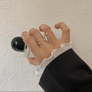 フレイアイディー(FRAY I.D)のスキニーリング 華奢 指輪 カジュアル 細み ゴールド シルバー 2色展開(リング(指輪))