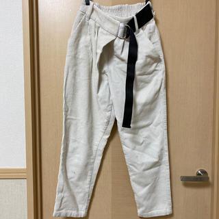 ルカ(LUCA)のLUCA コーデュロイ ベルト付きパンツ ホワイト 36(カジュアルパンツ)