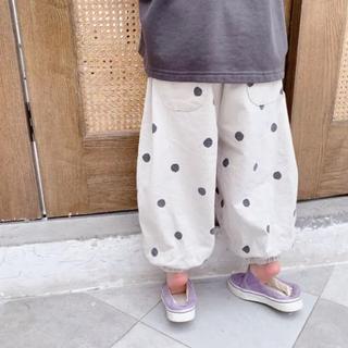 ☆新品☆ ドット柄パンツ 男女兼用 韓国子供服 100