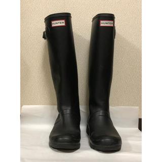 ハンター(HUNTER)の¥3400→¥3000 期間限定 HUNTER レインブーツ 雨靴 ブラック(レインブーツ/長靴)