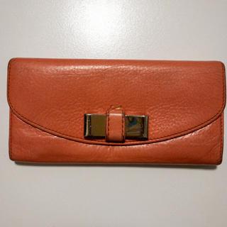 クロエ(Chloe)のクロエ CHLOE リリィ 長財布 レザー オレンジ(財布)