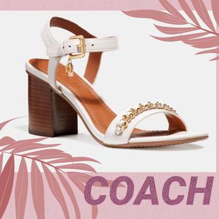 COACH - COACH 【コーチ】 靴 サンダル チェーンヒール美品✨