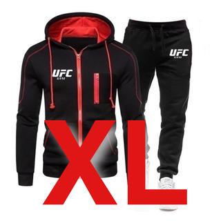 【大人気!再入荷】UFC フルジップパーカー ロングパンツ 上下セット 黒 XL