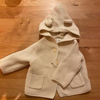 ベビーギャップ(babyGAP)のBaby GAP くまちゃん耳 カーディガン 3-6m 60センチ(カーディガン/ボレロ)
