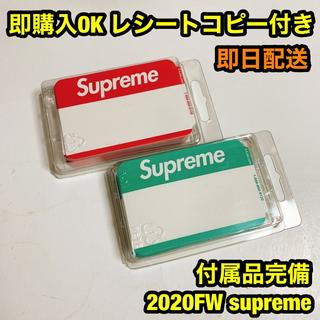 Supreme - Supreme 2020FW ネームバッジステッカー 100枚入り 2色セット