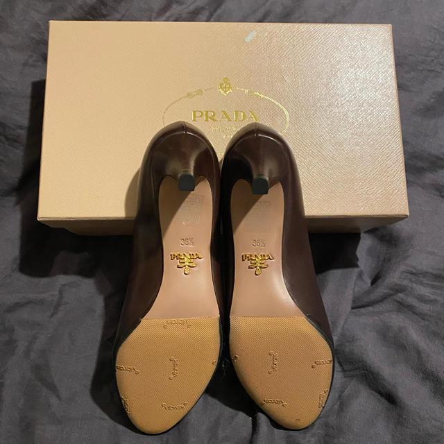 PRADA(プラダ)のPRADA パンプス ブラウン 箱付 レディースの靴/シューズ(ハイヒール/パンプス)の商品写真