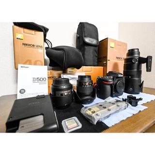 Nikon - 【美品】D500  + レンズ3本 +おまけ