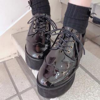アンクルージュ(Ank Rouge)のAnk Rouge アンクルージュ レースアップ厚底シューズ (ローファー/革靴)