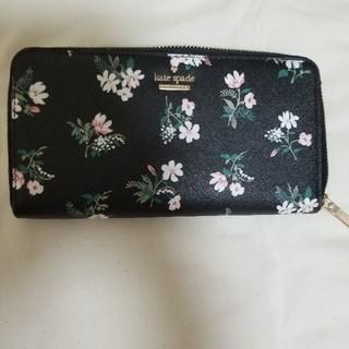 kate spade new york - 美品特価サービスケイトスペード黒地可愛い花柄長財布