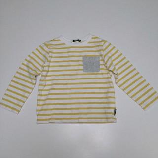 ムージョンジョン(mou jon jon)のムージョンジョン 100cm 黄色ボーダーカットソー(Tシャツ/カットソー)