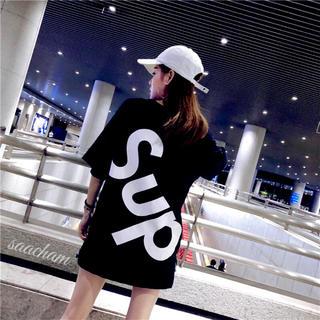 ノーブランド ビッグシルエット 黒 韓国 オルチャン XXL 夏服 体型カバー