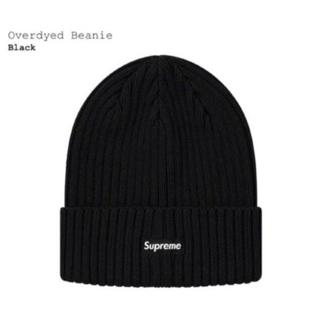 Supreme(シュプリーム)のSupreme Overdyed Beanie Black メンズの帽子(ニット帽/ビーニー)の商品写真