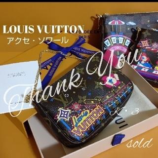 LOUIS VUITTON - LOUIS VUITTON ポーチ/ミニ アクセ・ソワール