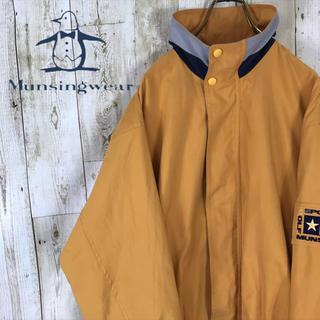 Munsingwear - マンシングウエア ブルゾン スイングトップ ゴルフウエア イエロー 刺繍ロゴ