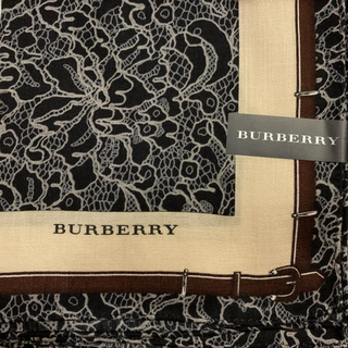 BURBERRY - バーバリー 大判ハンカチ スカーフベルト柄2
