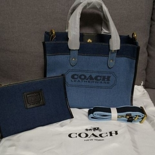 COACH - コーチ COACH デニム バッグ トートバッグ ショルダーバッグ