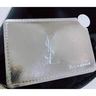 Yves Saint Laurent Beaute - YSL イヴ・サンローラン携帯ミラー ケース付き シルバー