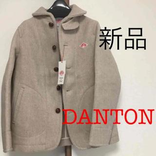 DANTON - 新品 ダントン ウールモッサシングルジャケット ショートコート ベージュ 34