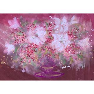 手書き作品 「百合の花」