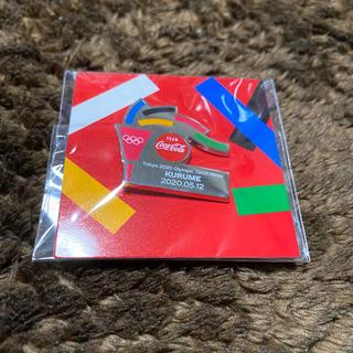 コカコーラ(コカ・コーラ)の幻の東京オリンピック 聖火リレー ピンバッジ(ノベルティグッズ)