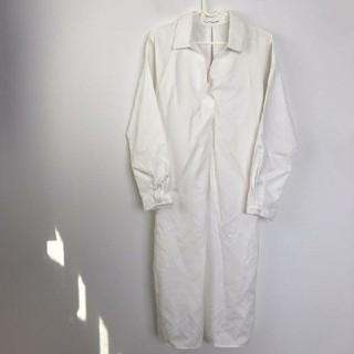ZARA - ホワイト シャツワンピース ベルト付き