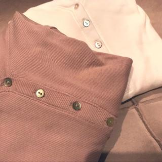 エイチアンドエム(H&M)のリブトップス(Tシャツ(長袖/七分))