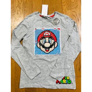H&M - ✨135 スーパーマリオ スパンコール TシャツH&M
