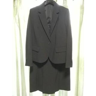 ニッセン(ニッセン)のレディーススーツ 大きいサイズ 洗えるスカートスーツ グレー(スーツ)