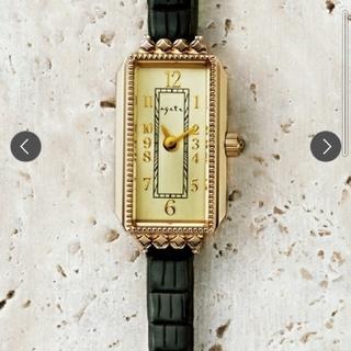 アガット(agete)のageteアガットジュエリーアクセサリー時計スクエア革ベルト(腕時計)
