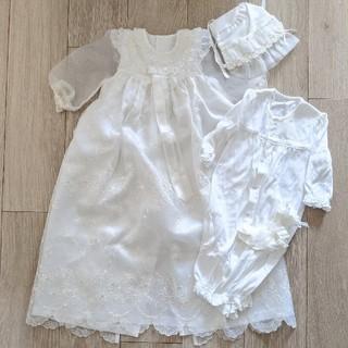 ファミリア(familiar)の赤ちゃんの城 セレモニードレス ベビードレス お宮参り 4点セット(セレモニードレス/スーツ)
