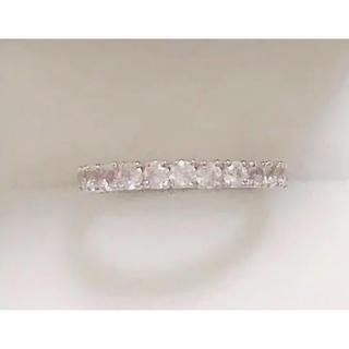 K18  モルガナイト フルエタニティ リング  指輪(リング(指輪))