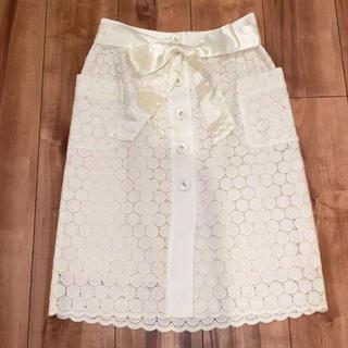 ESTNATION - エストネーション 膝丈スカート レーススカート