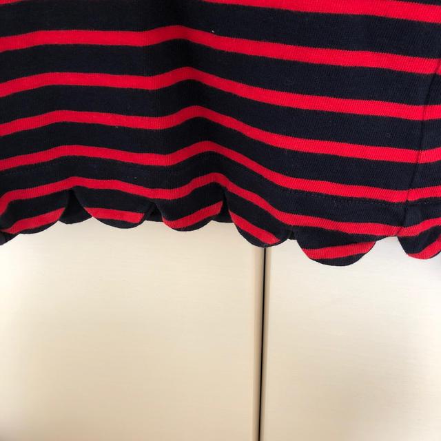 petit main(プティマイン)のpetit main 120 スカラップトップス ① キッズ/ベビー/マタニティのキッズ服女の子用(90cm~)(Tシャツ/カットソー)の商品写真