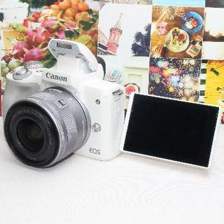 Canon - ❤️予備バッテリー&新品カメラバッグ付き❤️キヤノン EOS kiss M❤️
