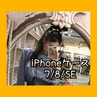 iPhone スマホ ケース カバー 韓国 オルチャン 透明 シリコン(iPhoneケース)