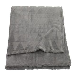 IKEA - HARKAL ハルコール 毛布, グレー, シングルサイズ