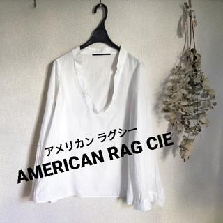 アメリカンラグシー(AMERICAN RAG CIE)のAMERICAN RAG CIE 白ストライプシャツ(シャツ/ブラウス(長袖/七分))