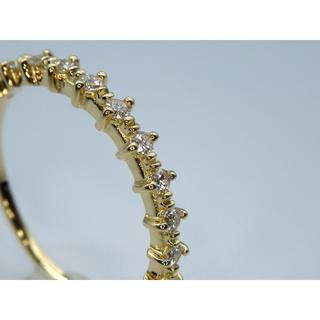 K18YG  0.17ct  シンプル ダイヤモンドリング(リング(指輪))