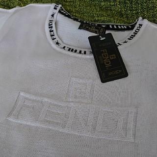 フェンディ(FENDI)の新品未使用タグ付 半袖ニット FENDIjeansフェンディジーンズ(ニット/セーター)
