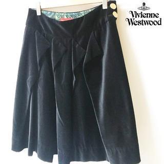 Vivienne Westwood - 【viviennewestwood】 ヴィヴィアン ベロア生地 ペプラムスカート