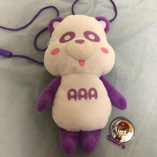 トリプルエー(AAA)のえーパンダ紫 ネックストラップ 宇野実彩子(ミュージシャン)