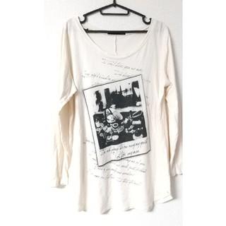 ヘザー(heather)のHeather ヘザー モノトーンフォトプリント 長袖カットソー Tシャツ(Tシャツ(長袖/七分))