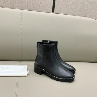 JIMMY CHOO - 2020ss JIMMY クリスタルダイヤのまわりの太い足首ブーツ