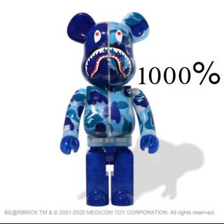 MEDICOM TOY - BE@RBRICK CLEAR ABC CAMO SHARK 1000%BLUE