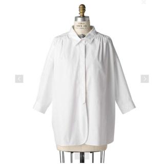 Drawer - Drawer コットンホワイトカラーシャツ