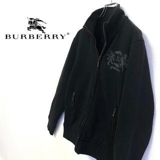 バーバリーブラックレーベル(BURBERRY BLACK LABEL)の美品 古着 BURBERRY ロゴパーカー ブラック メンズM(Tシャツ/カットソー(半袖/袖なし))