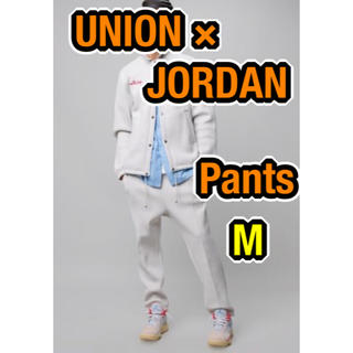 NIKE - 【完売品】UNION JORDAN LEISURE PANTS 白M 送料込み