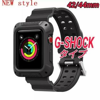 Apple Watch G-SHOCK タイプ ベルト 42/44mm ブラック